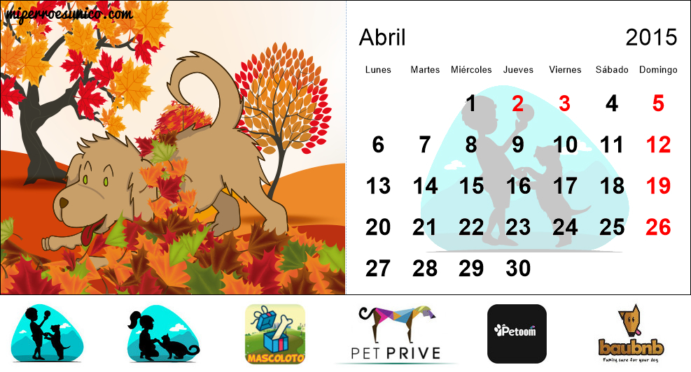 Calendario 2015 de perros - (Colombia) - Mi Perro Es Único