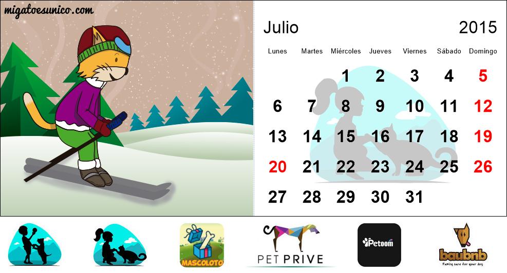 Calendario 2015 de gatos - (Colombia) - Mi Perro Es Único